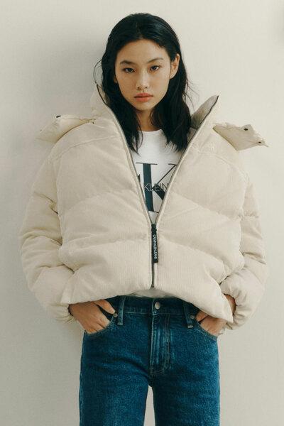 여성 오버핏 코듀로이 다운 재킷 J217244-ACJ J217244ACJ