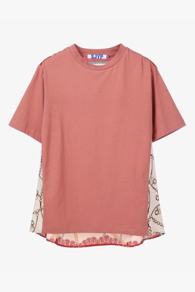 지오메트리 반소매 티셔츠