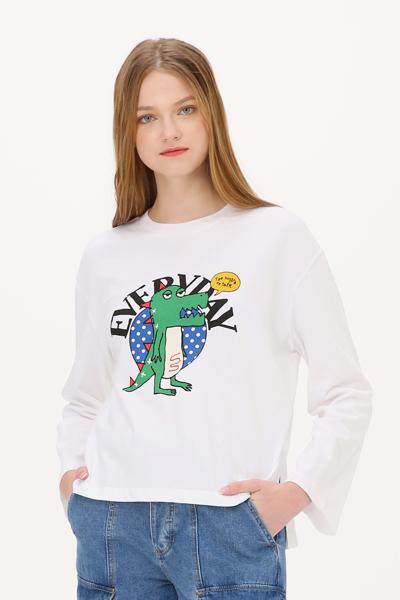 면 디노 그래픽 크루넥 티셔츠