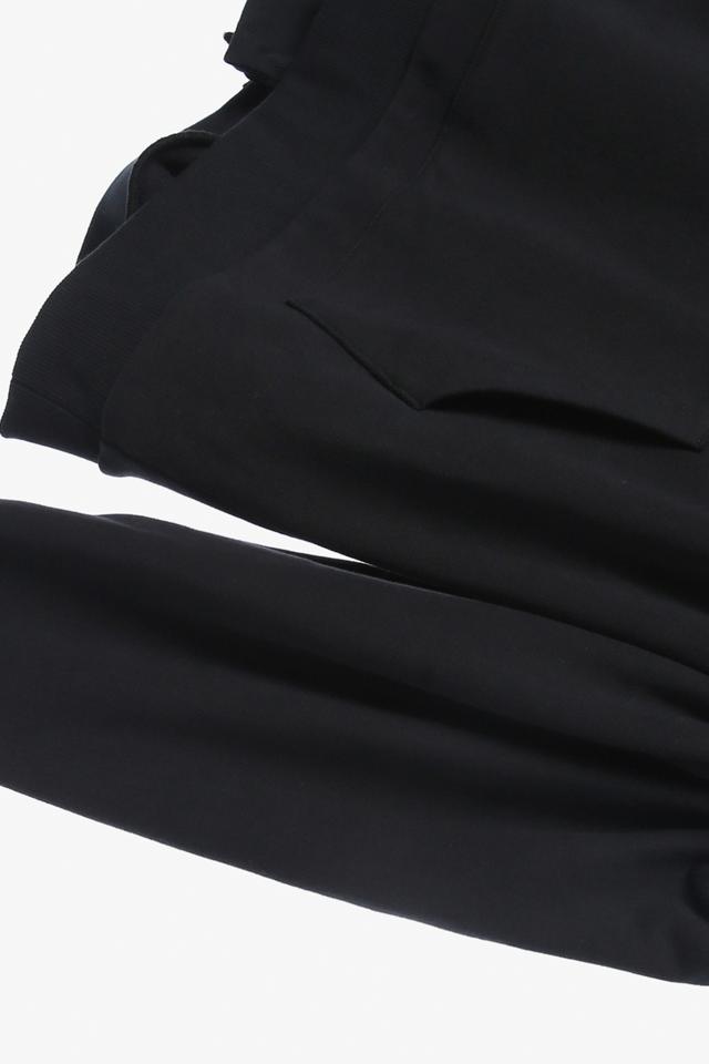 면 백슬릿 숄더 오픈 티셔츠