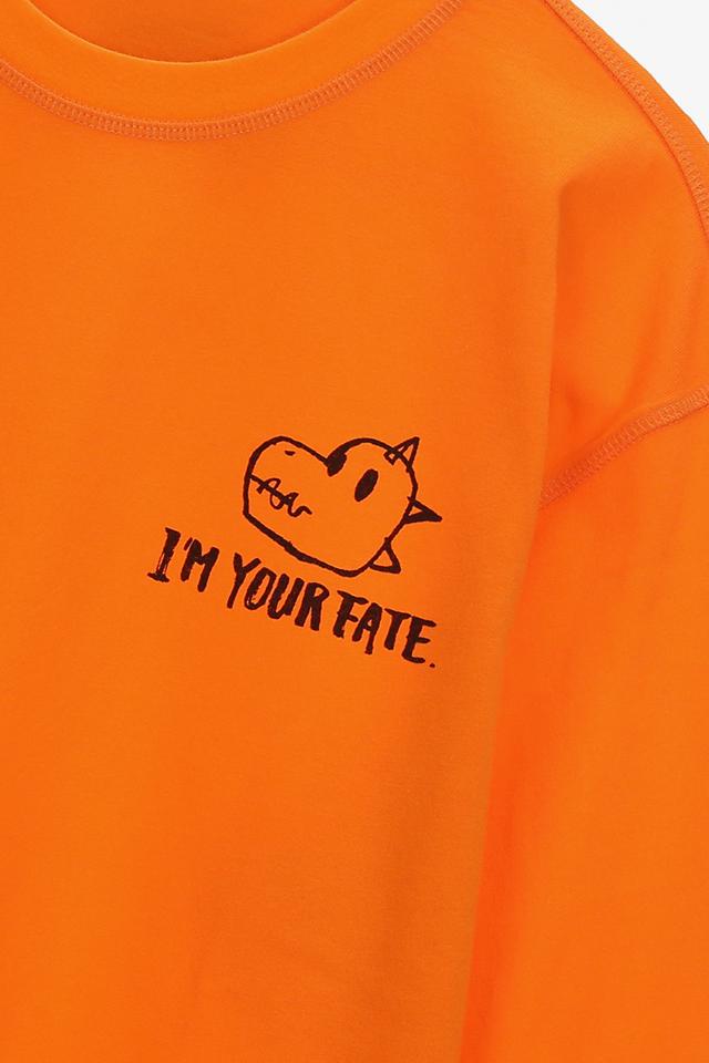 면 백 레터링 크루넥 티셔츠