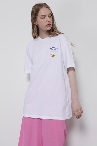 코튼 오버핏 썸머 그래픽 티셔츠