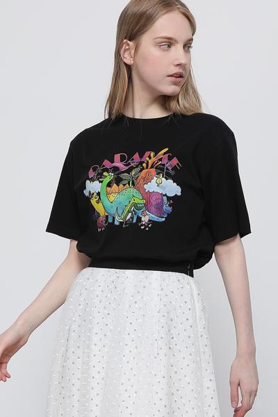 코튼 디노 파라다이스 반소매 티셔츠