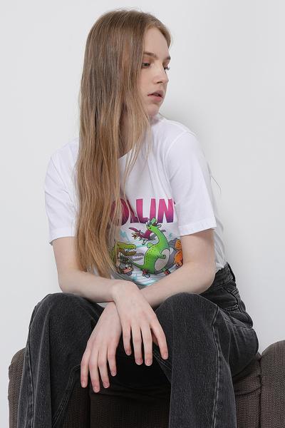 코튼 디노 롤린 쁘띠 티셔츠