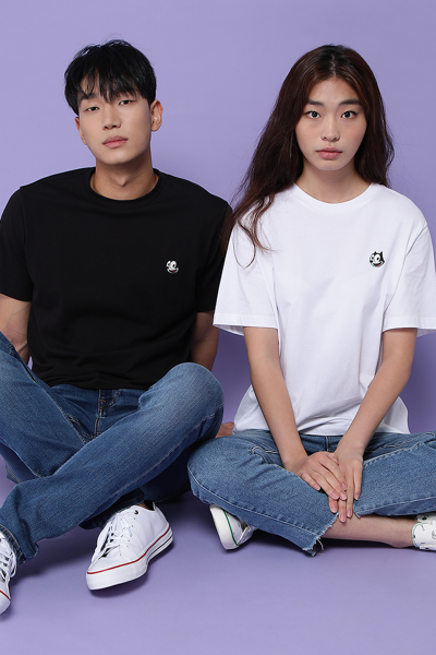 유니섹스 펠릭스 포인트 반소매 티셔츠