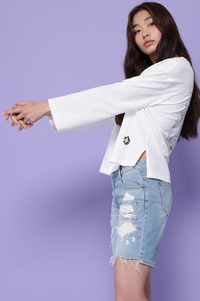 코튼 루즈핏 펠릭스 백 프린트 티셔츠