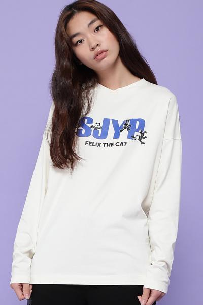 유니섹스 레귤러핏 펠릭스 로고 티셔츠