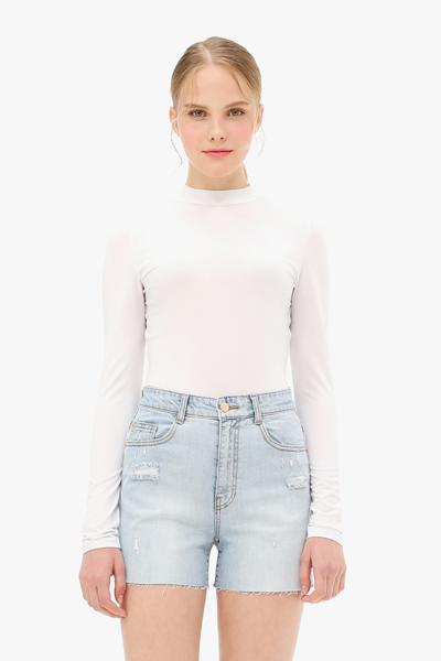 심플 하프넥 티셔츠