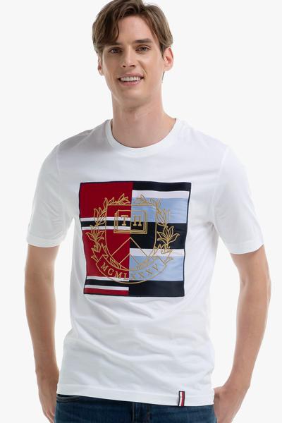 코튼 릴렉스핏 크레스트 티셔츠