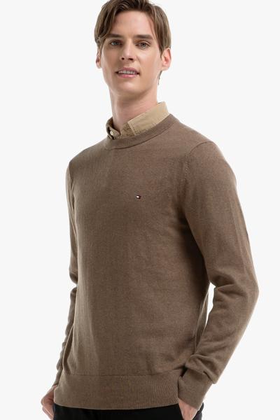 면혼방 베이직 크루넥 스웨터