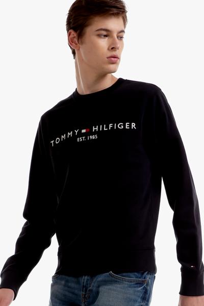 면혼방 로고 크루넥 맨투맨 티셔츠