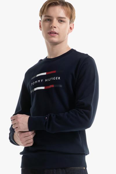 코튼 로고 긴소매 맨투맨 티셔츠