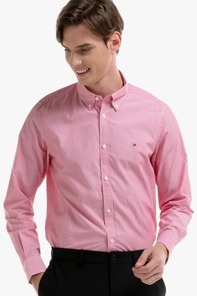 코튼 슬림핏 스트라이프 셔츠