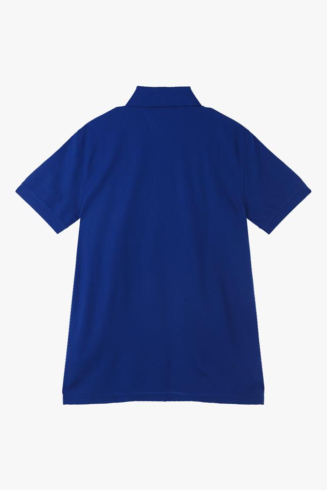 코튼 솔리드 폴로 티셔츠