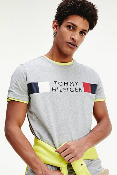 코튼 로고 페인팅 반소매 티셔츠