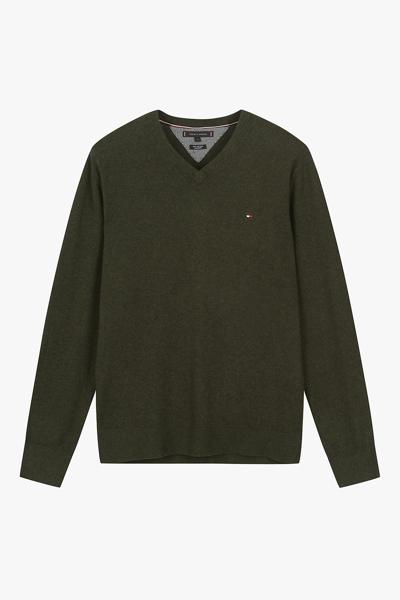 면혼방 베이직 브이넥 스웨터