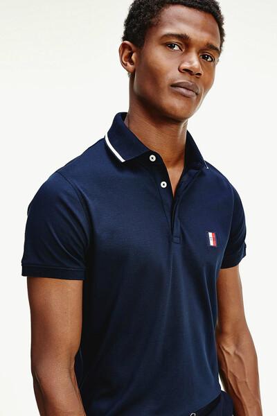 코튼 레귤러핏 와펜 폴로 티셔츠