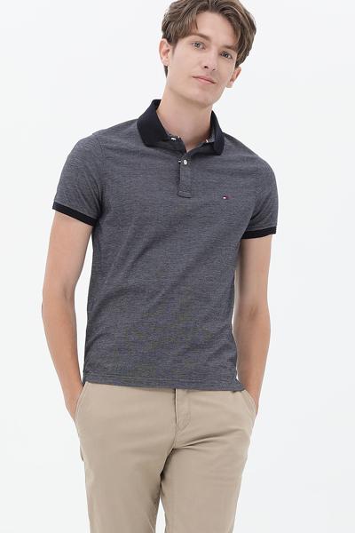 코튼 레귤러핏 폴로 티셔츠