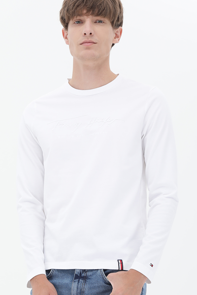 코튼 스탠다드핏 레터링 롱 슬리브 티셔츠
