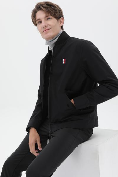 폴리 레귤러핏 모던 봄버 자켓
