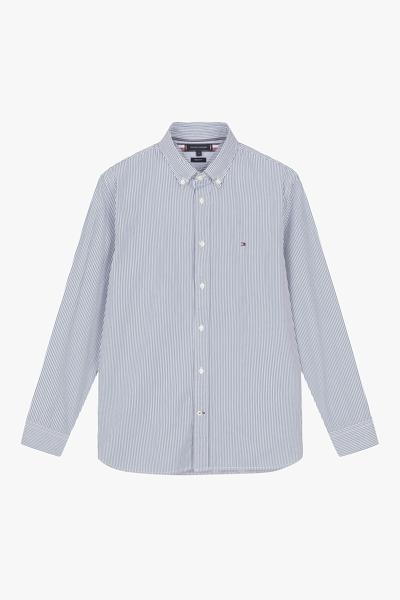 포플린 레귤러핏 스트라이프 셔츠