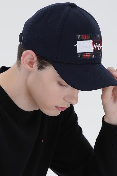 시그니처 플래그 볼캡 모자