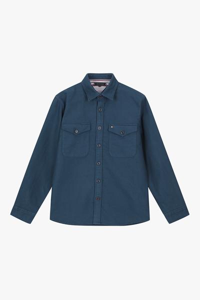 코튼 오버핏 포켓 셔츠