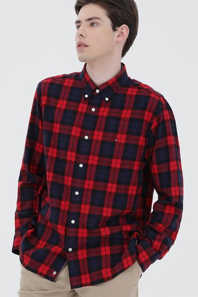 레귤러핏 타탄체크 플래그 셔츠