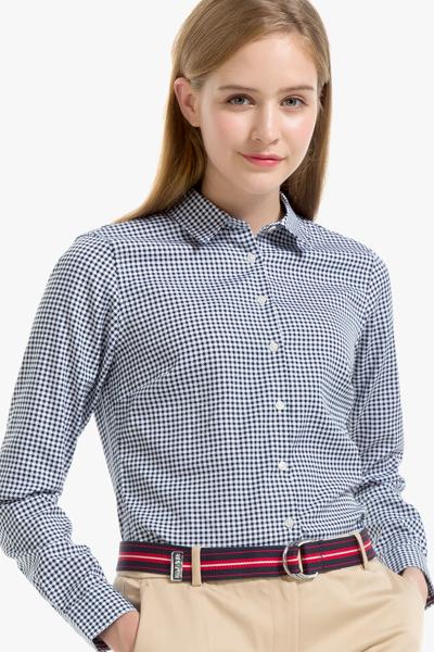코튼 핏티드핏 체크 셔츠