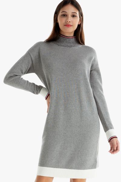 면혼방 루즈핏 터틀넥 스웨터 원피스
