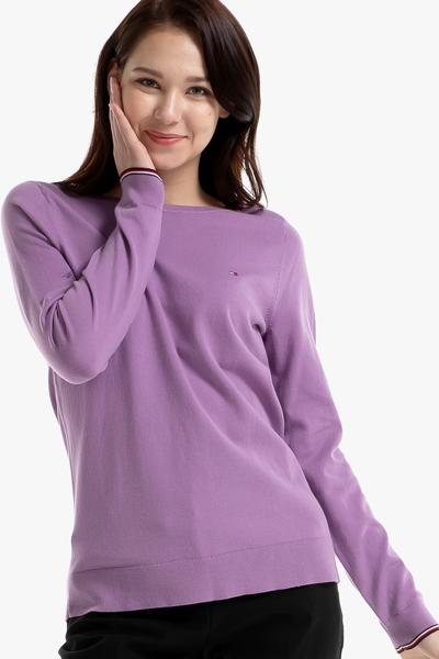 면혼방 솔리드 보트넥 스웨터