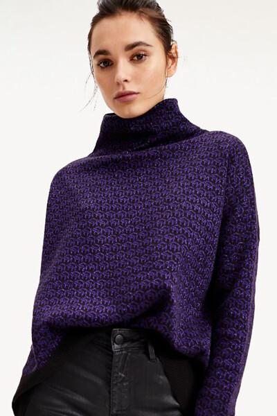 면혼방 TH 큐브 하이넥 스웨터