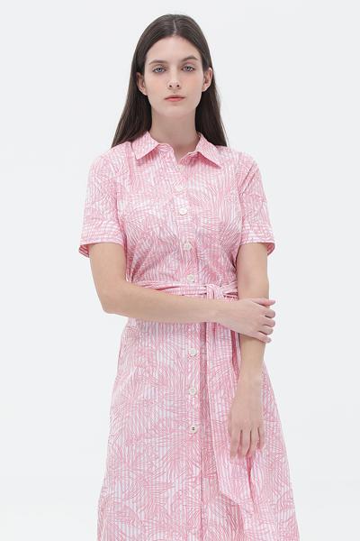 코튼 스탠다드핏 스트라이프 드레스