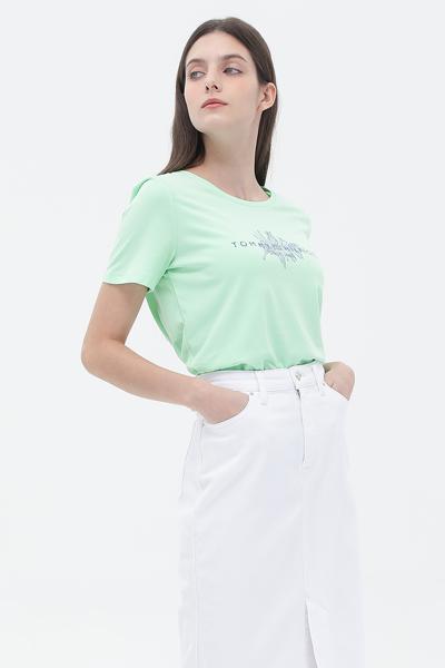 코튼 레귤러핏 로고 프린팅 티셔츠