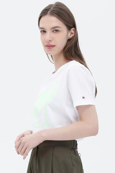 코튼 페인팅 반소매 티셔츠