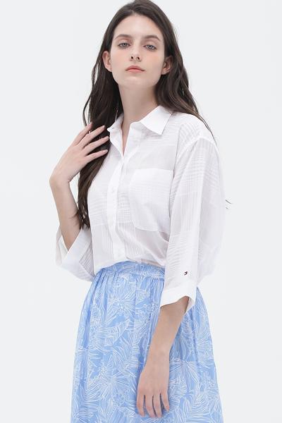 코튼 오버핏 튜닉 셔츠