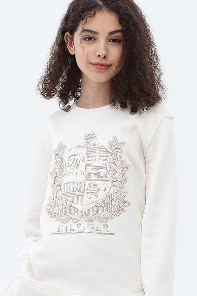 크레스트 라운드넥 맨투맨 티셔츠