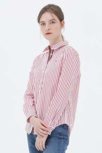 코튼 스탠다드핏 오닝 스트라이프 셔츠