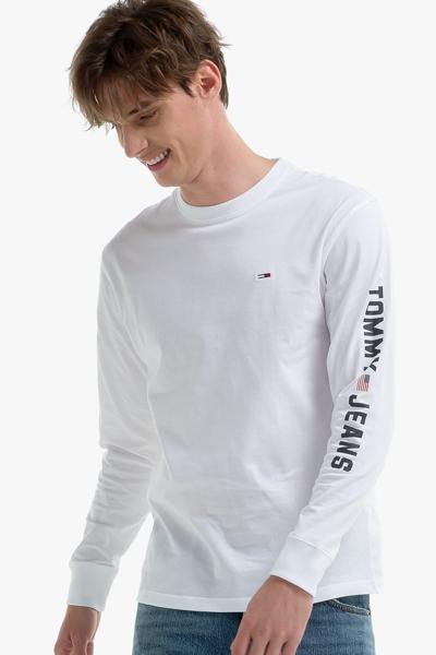 코튼 그래픽 긴소매 티셔츠