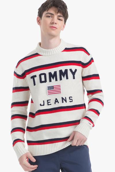 울혼방 오버사이즈핏 스트라이프 스웨터