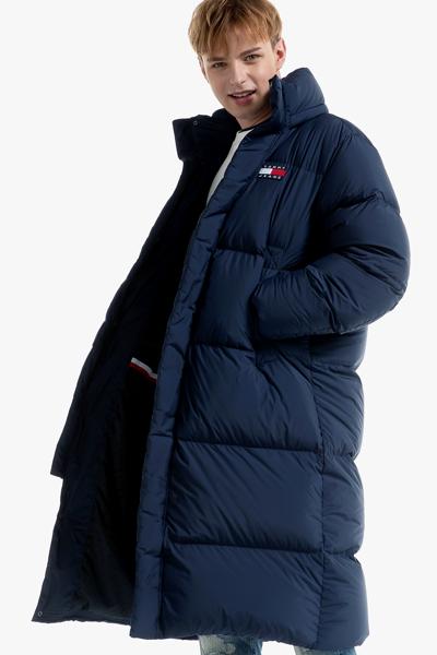 폴리 오버사이즈핏 로고 다운 코트