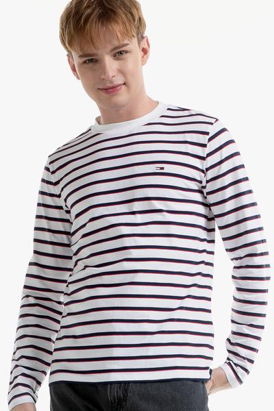 코튼 스트라이프 긴소매 티셔츠