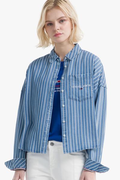 리오셀 박시핏 스트라이프 셔츠