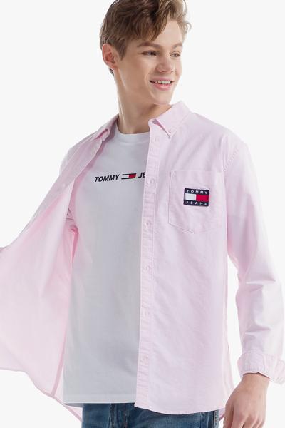 코튼 뱃지 긴소매 셔츠