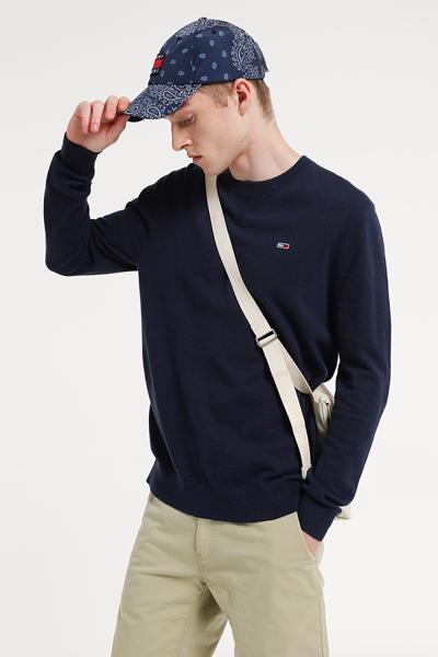 코튼 레귤러핏 크루넥 스웨터
