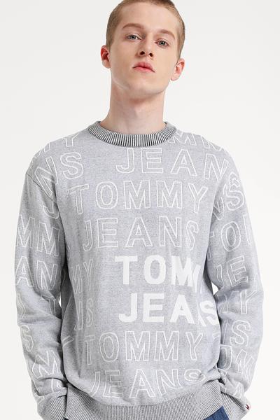 코튼 레귤러핏 레터링 스웨터