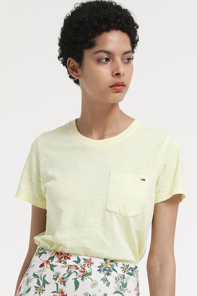라운드넥 반소매 티셔츠