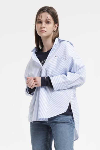 코튼 스탠다드핏 베이직 긴소매 티셔츠