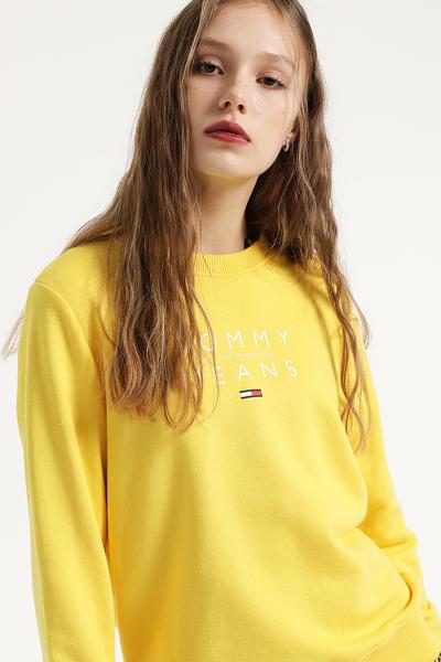 면 혼방 레귤러핏 로고 프린트 맨투맨 티셔츠