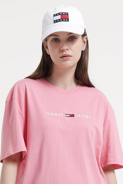 코튼 오버핏 아이코닉 티셔츠